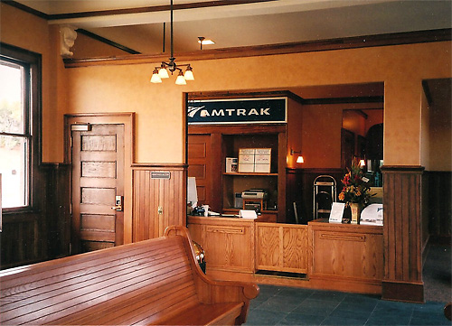 View of the Depot Lobby and Ticketing Area